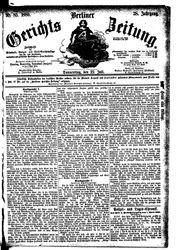 Berliner Gerichts-Zeitung (22.07.1880)