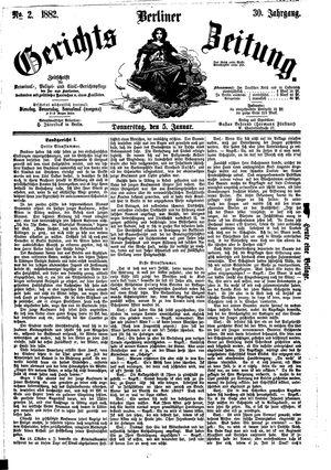 Berliner Gerichts-Zeitung vom 05.01.1882
