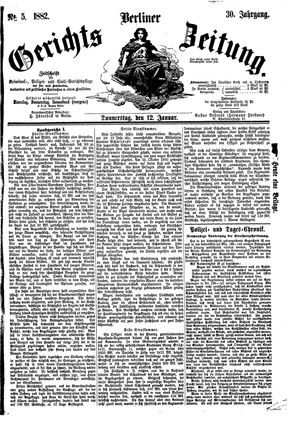 Berliner Gerichts-Zeitung vom 12.01.1882
