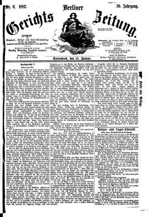 Berliner Gerichts-Zeitung vom 14.01.1882