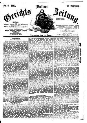 Berliner Gerichts-Zeitung vom 19.01.1882