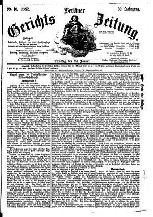 Berliner Gerichts-Zeitung vom 24.01.1882