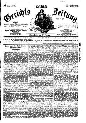 Berliner Gerichts-Zeitung vom 28.01.1882