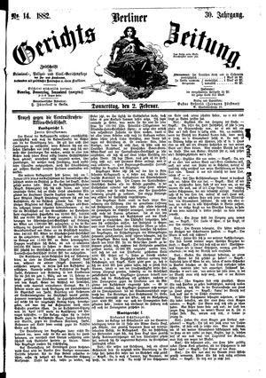 Berliner Gerichts-Zeitung vom 02.02.1882