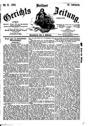 Berliner Gerichts-Zeitung vom 04.02.1882