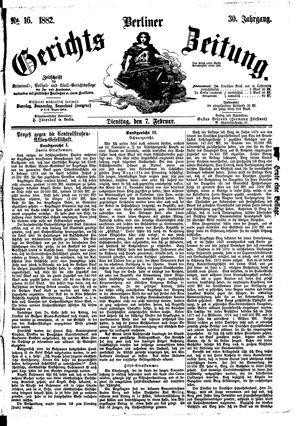 Berliner Gerichts-Zeitung vom 07.02.1882