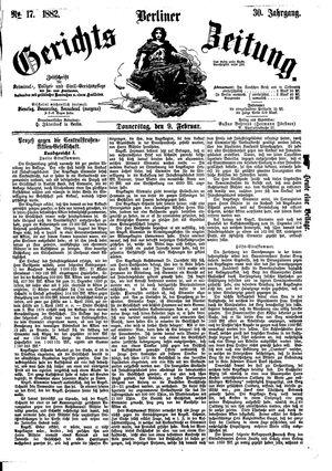 Berliner Gerichts-Zeitung vom 09.02.1882