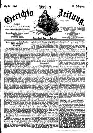 Berliner Gerichts-Zeitung vom 11.02.1882