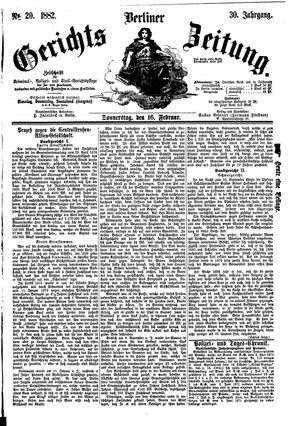 Berliner Gerichts-Zeitung vom 16.02.1882