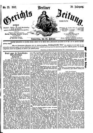 Berliner Gerichts-Zeitung vom 23.02.1882