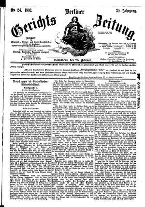 Berliner Gerichts-Zeitung vom 25.02.1882