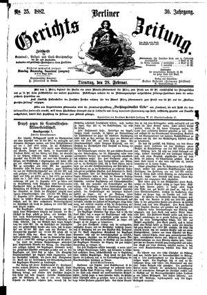 Berliner Gerichts-Zeitung vom 28.02.1882
