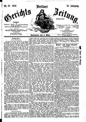 Berliner Gerichts-Zeitung vom 04.03.1882