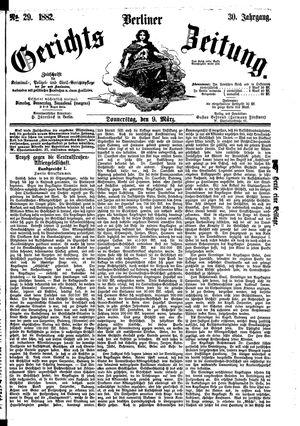 Berliner Gerichts-Zeitung vom 09.03.1882