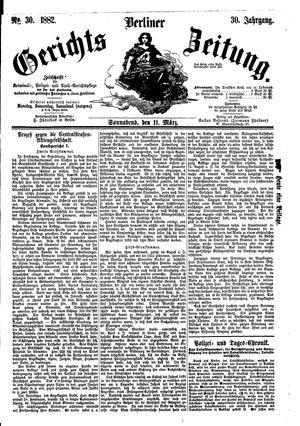 Berliner Gerichts-Zeitung vom 11.03.1882