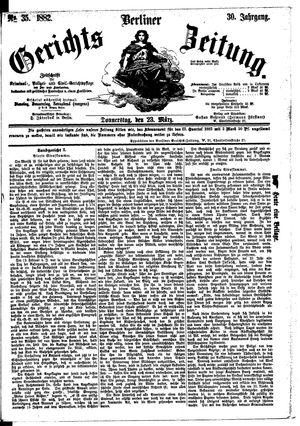 Berliner Gerichts-Zeitung vom 23.03.1882