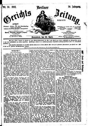 Berliner Gerichts-Zeitung vom 29.04.1882