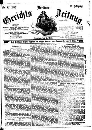 Berliner Gerichts-Zeitung vom 02.05.1882