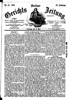 Berliner Gerichts-Zeitung vom 09.05.1882