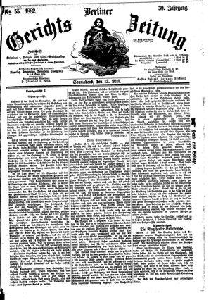 Berliner Gerichts-Zeitung vom 13.05.1882