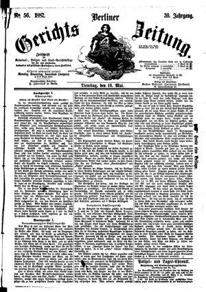 Berliner Gerichts-Zeitung vom 16.05.1882