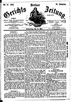 Berliner Gerichts-Zeitung vom 18.05.1882