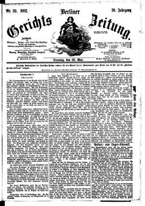 Berliner Gerichts-Zeitung on May 23, 1882
