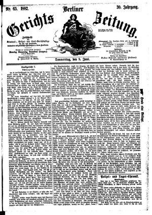 Berliner Gerichts-Zeitung vom 08.06.1882