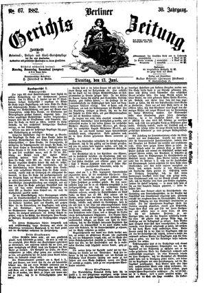 Berliner Gerichts-Zeitung vom 13.06.1882