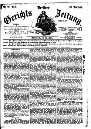 Berliner Gerichts-Zeitung vom 24.06.1882