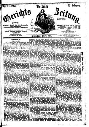 Berliner Gerichts-Zeitung vom 08.07.1882
