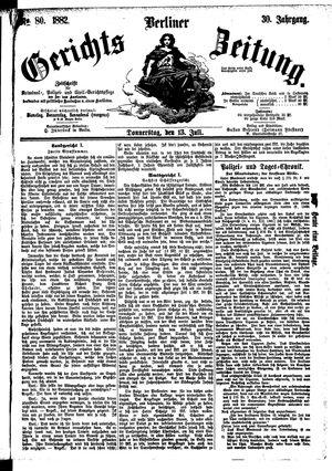 Berliner Gerichts-Zeitung vom 13.07.1882