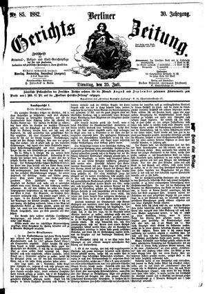 Berliner Gerichts-Zeitung vom 25.07.1882