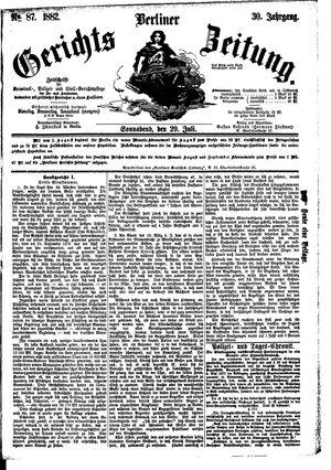 Berliner Gerichts-Zeitung vom 29.07.1882