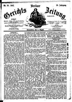 Berliner Gerichts-Zeitung vom 05.08.1882