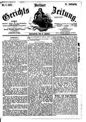 Berliner Gerichts-Zeitung vom 06.01.1883