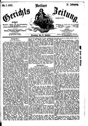 Berliner Gerichts-Zeitung vom 09.01.1883