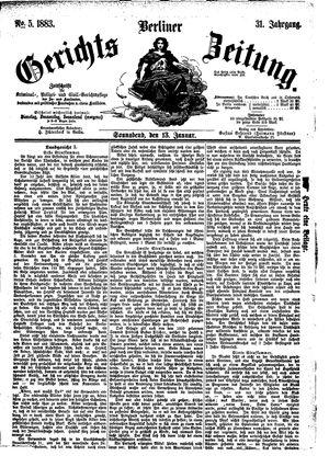 Berliner Gerichts-Zeitung vom 13.01.1883