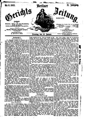 Berliner Gerichts-Zeitung vom 16.01.1883