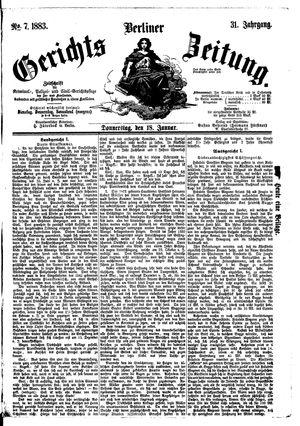 Berliner Gerichts-Zeitung vom 18.01.1883