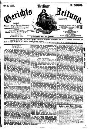 Berliner Gerichts-Zeitung vom 20.01.1883