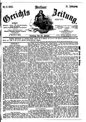 Berliner Gerichts-Zeitung vom 23.01.1883