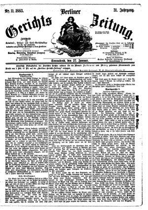 Berliner Gerichts-Zeitung vom 27.01.1883