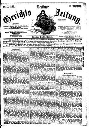 Berliner Gerichts-Zeitung vom 30.01.1883