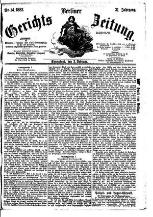 Berliner Gerichts-Zeitung vom 03.02.1883