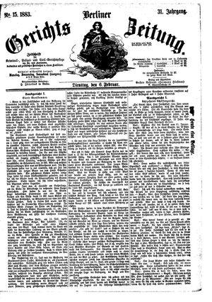 Berliner Gerichts-Zeitung vom 06.02.1883