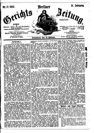 Berliner Gerichts-Zeitung vom 10.02.1883