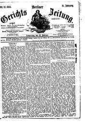 Berliner Gerichts-Zeitung (22.02.1883)