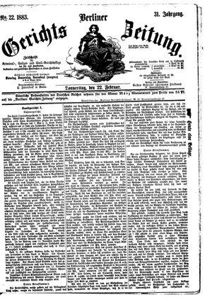 Berliner Gerichts-Zeitung vom 22.02.1883