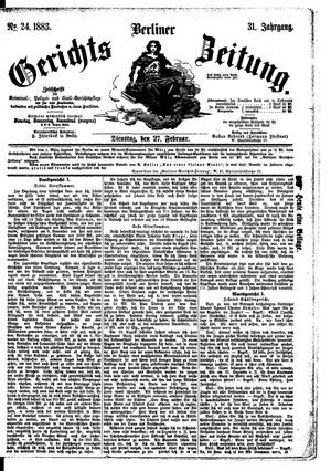 Berliner Gerichts-Zeitung vom 27.02.1883
